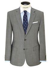 Hackett London Super 120s Wool Prince Of Wales Blazer Jacket Grey Check Size 38R