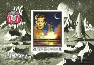 Yemen (Reino) Bloque 187b (completa. edición.) nuevo 1969 Luna de Investigación