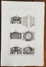 GRAVURE authentique 19°: Four a pain.(6 figures) Lithographies Pauquet