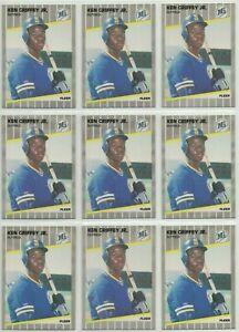 1989 Fleer Ken Griffey Jr RC lot Seattle Mariners Rookie cards HOF #24