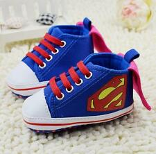 Baby Shoes Newborn Infant Superman Booties Soft Trainers Marvel Boys/Girls