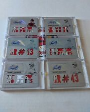 2015 Triple Threads Garrett Richards 1/1 White Whale Plate Auto Patch Lot x 6
