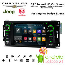 "6.2"" Android HD WiFi Bluetooth SatNav USB SD Car Stereo For Chrysler Jeep Dodge"