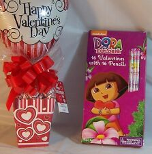 Valentines Day Heart and Candy, 16 Dora the Explorer V-Day Cards w/ Pencils