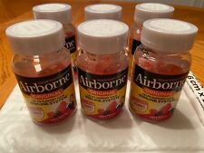 6 pack Airborne Assorted Fruit Gummies 750mg Vit C Immune Support 21 x6 = 126 ct