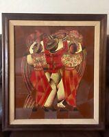 DAVID ORDONEZ SIGNED ORIGINAL GUATEMALA ARTIST ONE OF A KIND PAINTING 1976 ART