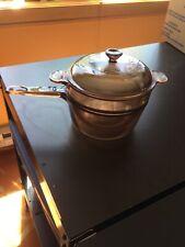 Visions Corning Stovetop Cookware Double Boiler V 20 B and 1.5 L Saucepan Pot