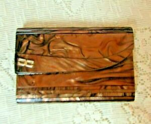 Vintage Large Purse, Leather, Antique All over a shiny piece of Leather unique