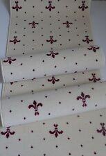3 tlg. Bettumrandung XXL B/ 80 cm Creme-Weiß-Rot Läufer Teppich  Webteppich