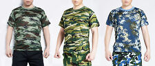 Men's Camouflage T-shirt Casual Camo Combat