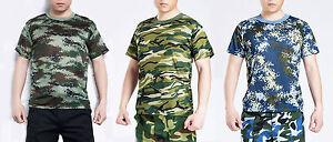 Men's Camouflage T-shirt Casual Camo Combat
