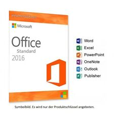 Microsoft Office Standard 2016 Vollversion ✔ Für PRIVAT & UNTERNEHMEN ✔ GERMANY