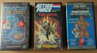 3 x Animation VHS Videos Action Force,He-Man Search For a Son,Star Com The Movie
