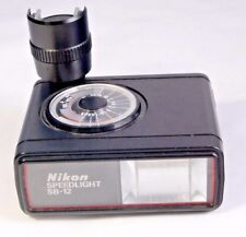 Nikon Speedlight SB-12 Shoe Mount Flash AS -----    IS  sold for Parts or Repair
