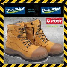 NEW!! Blundstone 992 Steel Toe Safety Men's Wheat 150mm Zip Side Work Boots