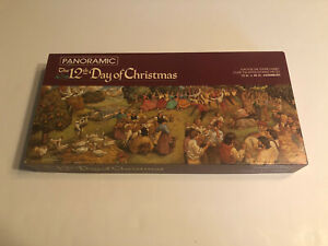 Vintage Springbok Twelve Days Of Christmas Panoramic Jigsaw Puzzle 700 Pieces