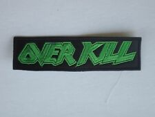 OVERKILL THRASH METAL EMBROIDERED PATCH