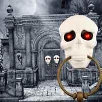 Halloween Doorbell Skull Light Eyeball Talking Scary Sounds Party Bar Door Decor