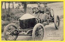 cpa Le PILOTE AUTOMOBILE WAGNER sur VOITURE DARRACQ RACING CAR Gros Plan Superbe