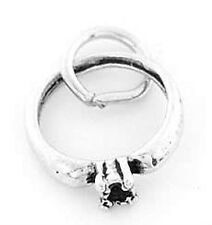 SILVER 925 ENGAGEMENT RING CHARM/PENDANT