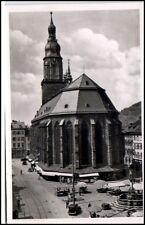 HEIDELBERG AK ~50/60er Jahre Strassen Partie Heilig-Geist-Kirche Church Kirche