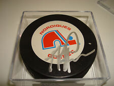 Mike Ricci Signed Quebec Nordiques Hockey Puck Autographed a