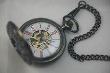 Mechanical Hand Wind Analog Hollow Engraving Pocket Watch PM2303