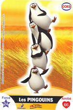 Vignette de collection autocollante CORA Dreamworks n° 76/112 - Les pingouins