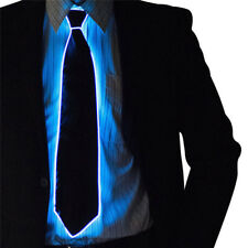 LED Light Up Ties Luminous EL Necktie DJ Party Bar Club Wedding Men's Cloth Gift