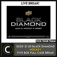 2020-21 UPPER DECK BLACK DIAMOND HOCKEY 5 BOX CASE BREAK #H1074 - PICK YOUR TEAM