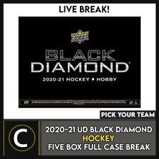 2020-21 UPPER DECK BLACK DIAMOND хоккей 5 коробки перерыв #H1142B — выбирайте свою команду