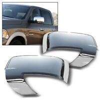 For 2009-2012 Dodge Ram Chrome Mirror Covers W/ Turn Signal (NOT for Tow Mirror)