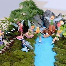 6 Piece Fairy Pixie Miniature Figurine Garden Ornament Plant Pot Dollhouse Decor