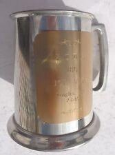 Tankard English Pewter Leonard Eales of Shefield Made in England Glass Bottom