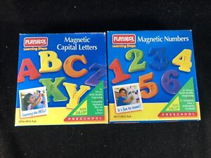 Magnetic Letters And Numbers With Braille Engraving Vintage Playskool Complete!