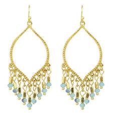 Earrings - Dangles - Blue & Gold - New