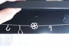 NADRI Charm Silver Chain Bracelet with lucky CZ charms $58 NIB