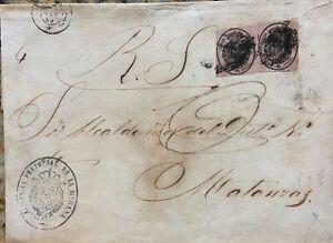 O) 1864 SPANISH ANTILLES, AGENCIA PRETORIAL  - CROWN, CORREO OFICIAL 1/2 onza im