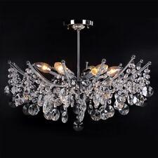 Modern Ceiling Light Shade Droplet Pendant Crystal Bead Chandelier Living Room