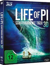 LIFE OF PI, Schiffbruch mit Tiger (Blu-ray 3D + Blu-ray Disc) NEU+OVP