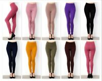 Leggings Buttery Soft Solid Color Women's One Size Fits 2-12 & Plus Size 14-18