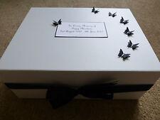 Condolence Bereavement Personalised Keepsake Box Memory Funeral Butterflies