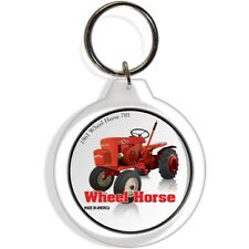 Wheel Horse 701 Garden Tractor Keychain Key Chain Ring Suburban Red Front Weight