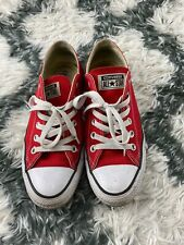 Converse All Star Women's Shoes Sneakers Red Size 8