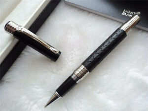 Replica MB Master Limited Series Black Leather 0.7mm Rollerball Pen NO BOX