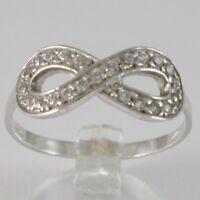 Ring aus Weißgold 750 18K, Symbol Infinito mit Zirkonia, Made in Italien