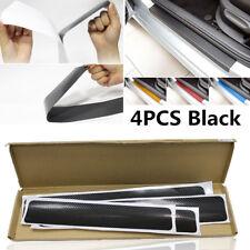 Schwarz 4tlg. Einstiegsleisten Aufkleber Auto Schwellerleiste Carbon Fiber Look