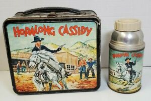 Vintage 1954 Hopalong Cassidy Lunchbox & Thermos