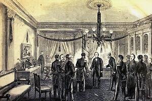 Berghaus ANDREW JOHNSON First Ambassador Reception at TREASURY 1866 Print Matted