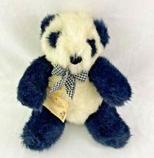 "Vintage Plush Sam Ting Panda Bear NABCO Seated 9"" Stuffed Animal"
